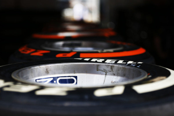 Circuit de Catalunya, Barcelona, Spain. Saturday 10 May 2014. Tyres. World Copyright: Andy Hone/LAT Photographic. ref: Digital Image _ONZ0958