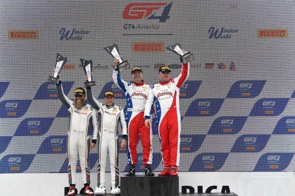 #51 Panoz Avezzano GT of Preston Calvert and Matthew Keegan with Team Panoz Racing  John Allen and Kris Wilson
