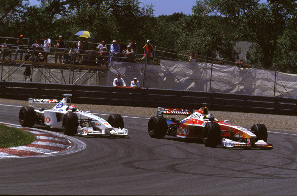 1999 Canadian Grand Prix.Montreal, Quebec, Canada.11-13 June 1999.Ralf Schumacher (Williams FW21 Supertec) followed by Johnny Herbert (Stewart SF3 Ford).Ref-99 CAN 14.World Copyright - LAT Photographic