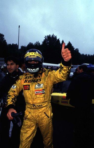 1998 Belgian Grand Prix.Spa-Francorchamps, Belgium. 28-30 August 1998.Damon Hill (Jordan Mugen Honda) 1st position.World Copyright - Steven Tee/LAT Photographic