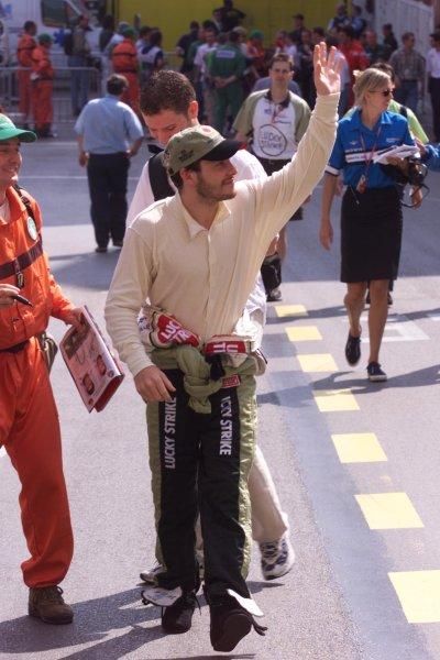 2000 Monaco Grand Prix.Monte Carlo, Monaco.1-4 June 2000.Jacques Villeneuve (B.A R. Honda).World Copyright - LAT Photographic