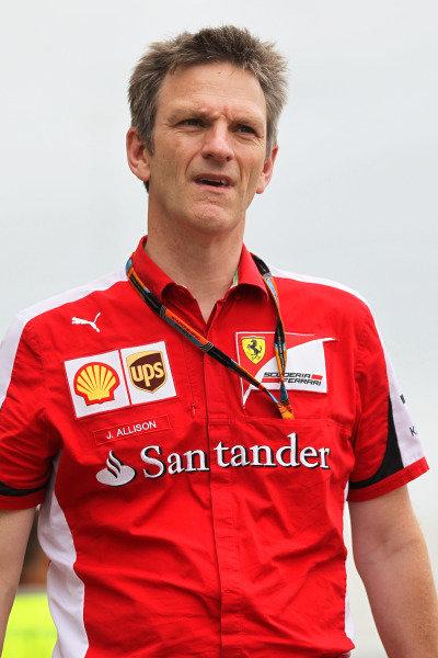 James Allison (GBR) Ferrari Chassis Technical Director at Formula One World Championship, Rd16, United States  Grand Prix, Preparations, Austin, Texas, USA, Thursday 22 October 2015.