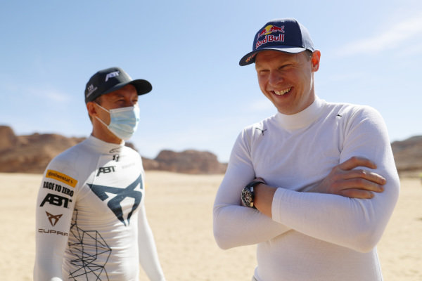 Mattias Ekstrom (SWE), ABT CUPRA XE, and Johan Kristoffersson (SWE), Rosberg X Racing