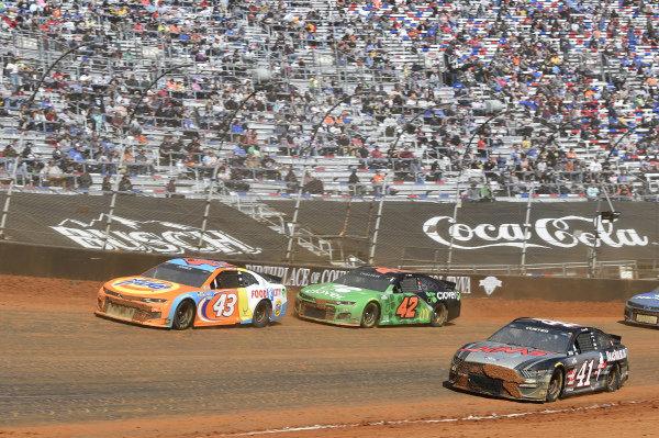 #43: Erik Jones, Richard Petty Motorsports, Chevrolet Camaro Tide/Food City, #42: Ross Chastain, Chip Ganassi Racing, Chevrolet Camaro Clover, #41: Cole Custer, Stewart-Haas Racing, Ford Mustang HaasTooling.com
