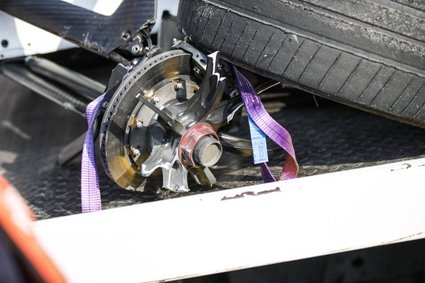 Front wheel of Tom Dillmann (FRA), NIO Formula E Team, NIO Sport 004