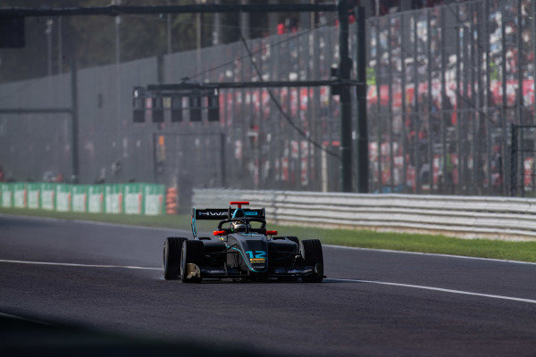 AUTODROMO NAZIONALE MONZA, ITALY - SEPTEMBER 08: Keyvan Andres (IRN, HWA RACELAB) during the Monza at Autodromo Nazionale Monza on September 08, 2019 in Autodromo Nazionale Monza, Italy. (Photo by Joe Portlock / LAT Images / FIA F3 Championship)