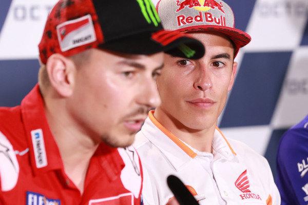 Jorge Lorenzo, Ducati Team, Marc Marquez, Repsol Honda Team.