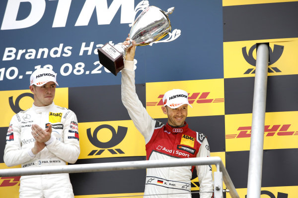 Podium: third place René Rast, Audi Sport Team Rosberg.