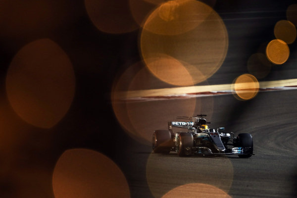 Lewis Hamilton (GBR) Mercedes-Benz F1 W08 Hybrid at Formula One World Championship, Rd3, Bahrain Grand Prix Qualifying, Bahrain International Circuit, Sakhir, Bahrain, Saturday 15 April 2017. BEST IMAGE