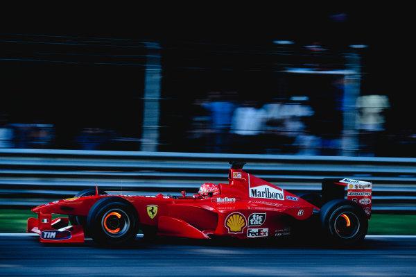 2000 Italian Grand Prix.Monza, Italy. 8-10 September 2000.Michael Schumacher (Ferrari F1-2000).Ref-2K ITA 73.World Copyright - Charles Coates/LAT Photographic