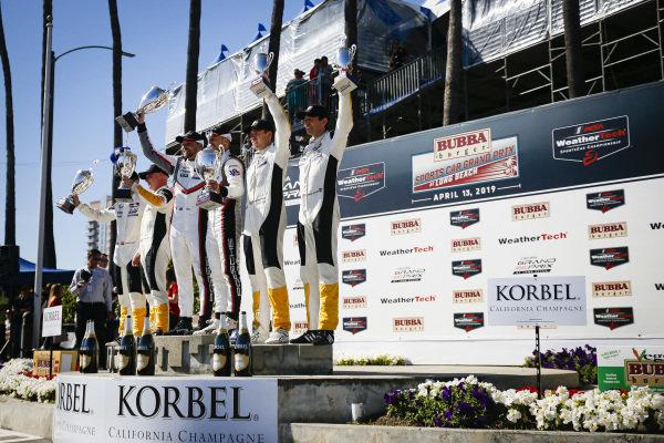 #912 Porsche GT Team Porsche 911 RSR, GTLM: Earl Bamber, Laurens Vanthoor, #3 Corvette Racing Corvette C7.R, GTLM: Jan Magnussen, Antonio Garcia, #4 Corvette Racing Corvette C7.R, GTLM: Oliver Gavin, Tommy Milner