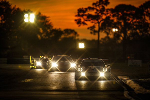 #911 Porsche GT Team Porsche 911 RSR, GTLM: Patrick Pilet, Nick Tandy, Frederic Makowiecki, #25 BMW Team RLL BMW M8 GTE, GTLM: Tom Blomqvist, Connor De Phillippi, Colton Herta