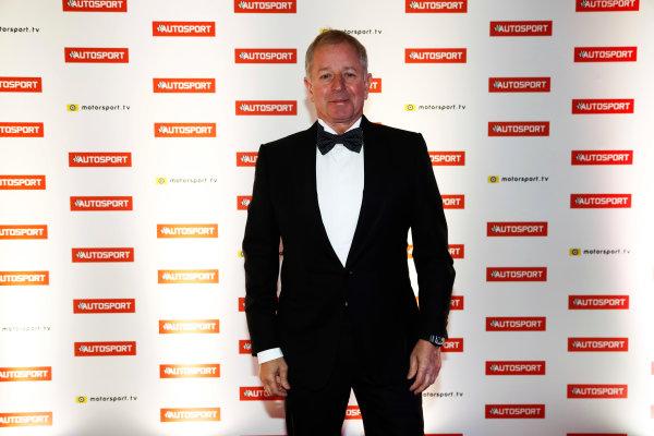 2017 Autosport Awards Grosvenor House Hotel, Park Lane, London. Sunday 3 December 2017. Martin Brundle. World Copyright: Glenn Dunbar/LAT Images Ref: Digital Image _31I1585