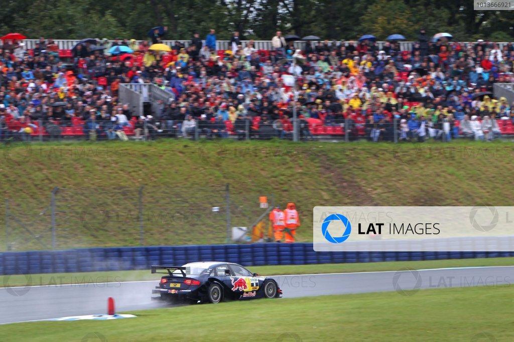 Race winner Mattias Ekstrom (SWE), Audi Sport Team Abt Sportsline, Red Bull Audi A4 DTM (2009).DTM, Rd8, Oschersleben, Germany, 16-18 September 2011 Ref: Digital Image dne1118se521