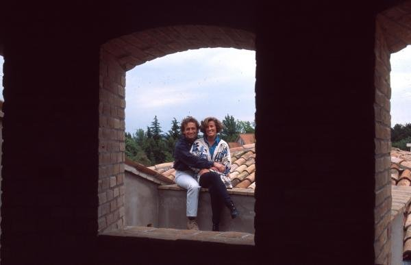 Pier Luigi Martini at home with his wife Sandra in Lavezzola, Italy.Formula One Drivers At Home