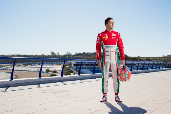 2017 FIA Formula 2 Round 10. Circuito de Jerez, Jerez, Spain. Thursday 5 October 2017. Antonio Fuoco (ITA, PREMA Racing).  Photo: Zak Mauger/FIA Formula 2. ref: Digital Image _56I3850