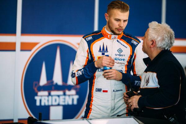 2016 GP3 Series Testing. Estoril, Portugal. Thursday 24 March 2016. Artur Janosz (ITA) Trident  World Copyright: Malcolm Griffiths/LAT Photographic. ref: Digital Image F80P4777