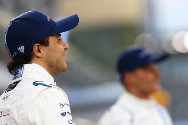 Yas Marina Circuit, Abu Dhabi, United Arab Emirates. Thursday 26 November 2015. Felipe Massa, Williams F1. World Copyright: Charles Coates/LAT Photographic ref: Digital Image DXI26568