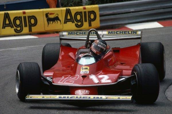 1979 Monaco Grand Prix.Monte Carlo, Monaco. 27 May 1979.Gilles Villeneuve (Ferrari 312T4) rounds the Loews Hairpin.World Copyright: LAT PhotographicRef: 79MON25