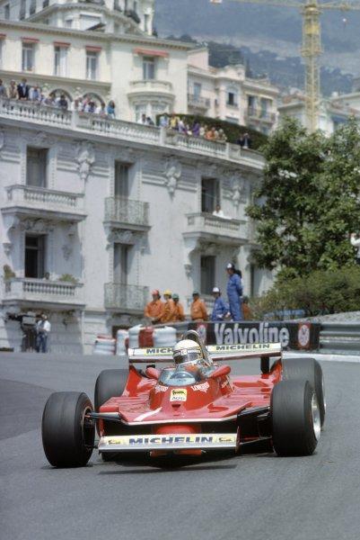 1980 Monaco Grand Prix.Monte Carlo, Monaco. 15-18 May 1980.Jody Scheckter (Ferrari 312T5), retired.World Copyright: LAT PhotographicRef: 35mm transparency 80MON12