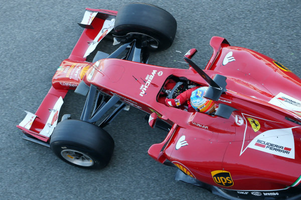 Fernando Alonso (ESP) Ferrari F14 T. Formula One Testing, Jerez, Spain, Day Three, Thursday 30 January 2014.