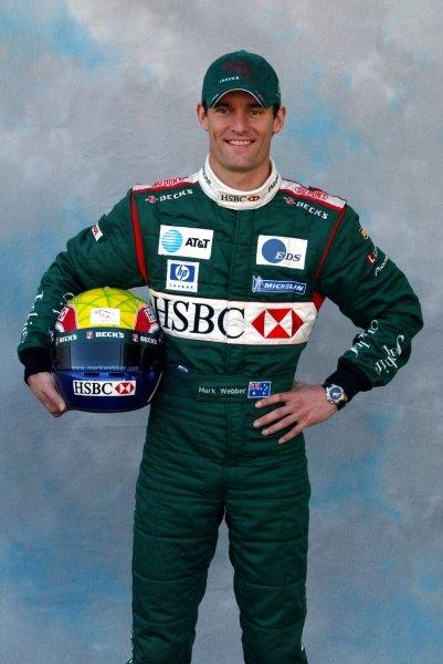 Mark Webber (AUS) Jaguar.Formula One World Championship, Rd1, Australian Grand Prix, Driver Portraits, Albert Park, Melbourne, Australia, 6 March 2003.DIGITAL IMAGE