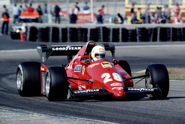 1983 Dutch Grand Prix.Zandvoort, Holland.26-28 August 1983.Rene Arnoux (Ferrari 126C3) 1st position.Ref-83 HOL 01.World Copyright - LAT Photographic