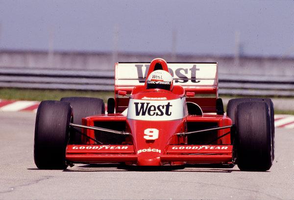1987 Brazilian Grand Prix.Jacarepegua, Rio de Janeiro, Brazil.10-12 April 1987.Martin Brundle (Zakspeed 861).Ref-87 BRA 27.World Copyright - LAT Photographic
