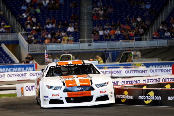 2017 Race of Champions Miami, Florida, USA Sunday 22 January 2017 David Coulthard, Whelen NASCAR World Copyright: Alexander Trienitz/LAT Photographic ref: Digital Image 2017-RoC-MIA-AT2-2916