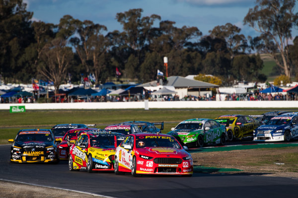 2017 Supercars Championship Round 5.  Winton SuperSprint, Winton Raceway, Victoria, Australia. Friday May 19th to Sunday May 21st 2017. Scott McLaughlin drives the #17 Shell V-Power Racing Team Ford Falcon FGX. World Copyright: Daniel Kalisz/LAT Images Ref: Digital Image 200517_VASCR5_DKIMG_5266.JPG