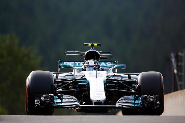 Spa Francorchamps, Belgium.  Friday 25 August 2017. Valtteri Bottas, Mercedes F1 W08 EQ Power+.  World Copyright: Andy Hone/LAT Images  ref: Digital Image _ONZ8725