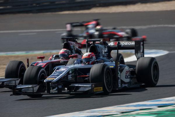2017 FIA Formula 2 Round 10. Circuito de Jerez, Jerez, Spain. Sunday 8 October 2017. Luca Ghiotto (ITA, RUSSIAN TIME).  Photo: Andrew Ferraro/FIA Formula 2. ref: Digital Image _FER3519