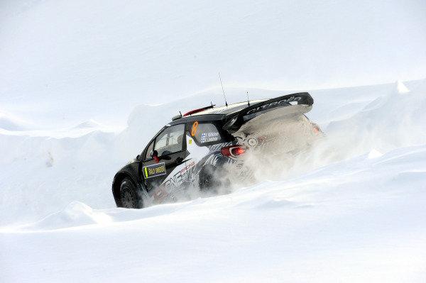 Kimi Raikkonen (FIN) Citroen DS3 WRC on stage 3. World Rally Championship, Rd1, Rally Sweden, Day One, Karlstad, Sweden. 11 February 2011.