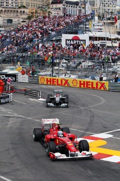 Fernando Alonso (ESP) Ferrari F10  Formula One World Championship, Rd 6, Race, Monaco Grand Prix, Monte-Carlo, Monaco, Sunday 16 May 2010.