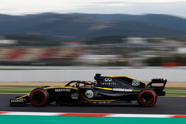 Circuit de Catalunya, Barcelona, Spain. Thursday 08 March 2018. Carlos Sainz Jr., Renault Sport F1 Team R.S. 18. World Copyright: Joe Portlock/LAT Images ref: Digital Image _R3I5127