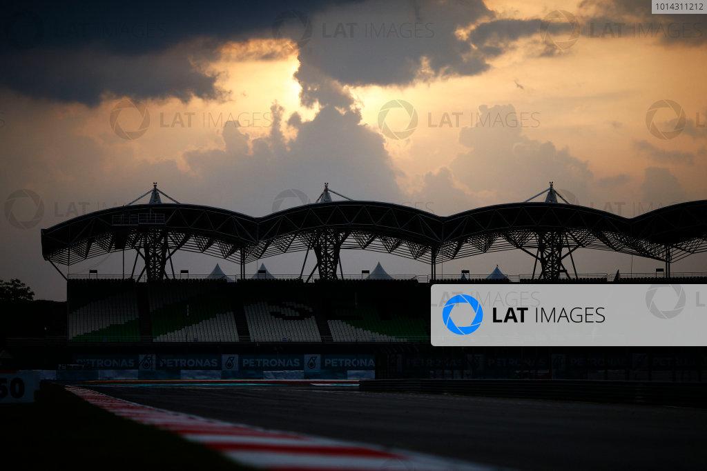 Sepang International Circuit, Sepang, Kuala Lumpur, Malaysia. Thursday 26 March 2015. Clouds over the circuit. World Copyright: Andrew Hone/LAT Photographic. ref: Digital Image _ONY8252 copy