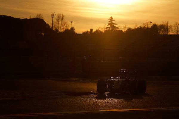 2015 F1 Pre Season Test 3 - Day 4 Circuit de Catalunya, Barcelona, Spain. Thursday  Sunday 1 March 2015. Sergio Perez, Force India VJM08 Mercedes.  World Copyright: Sam Bloxham/LAT Photographic. ref: Digital Image _14P5546