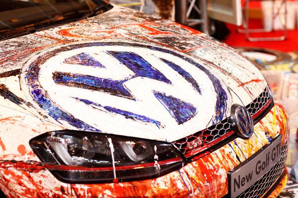 Autosport International Show NEC, Birmingham.  Sunday 12 January 2014. VW painted. World Copyright:Adam Warner/LAT Photographic ref: Digital Image _MG_8402
