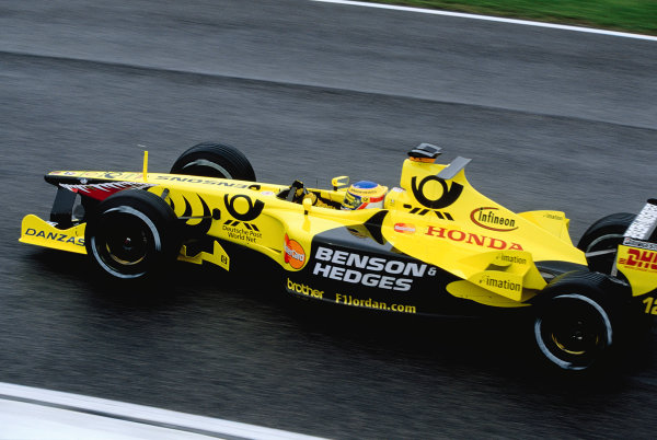 2001 San Marino Grand Prix.Imola, Italy. 13-15 April 2001.Jarno Trulli (Jordan EJ11 Honda) 5th position.Ref-01 SM 27.World Copyright - Charles Coates/LAT Photographic