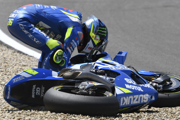 Joan Mir, Team Suzuki MotoGP crash.