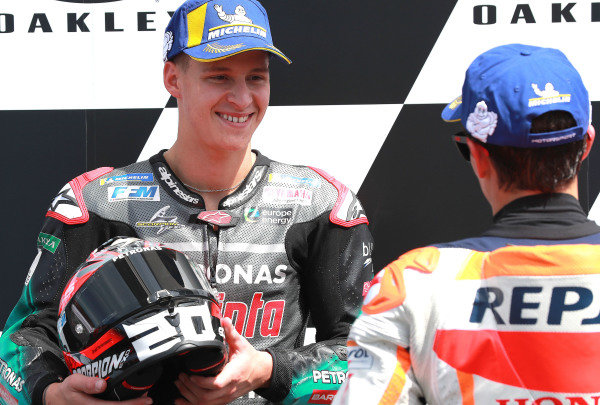 Second place Fabio Quartararo, Petronas Yamaha SRT.