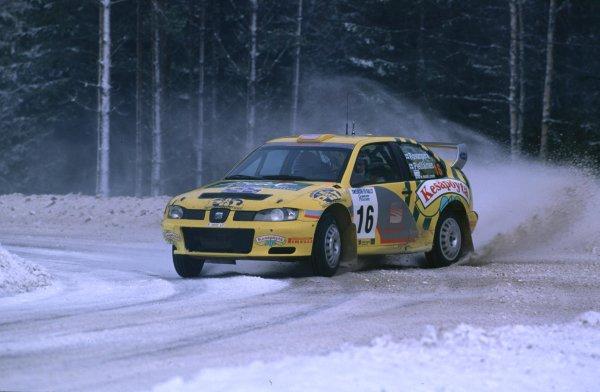 Harri Rovanpera, Seat Cordoba WRCSwedish Rally, Sweden 10-13/2/2000World - McKlein/LAT PhotographicRef: 2K WRC 05
