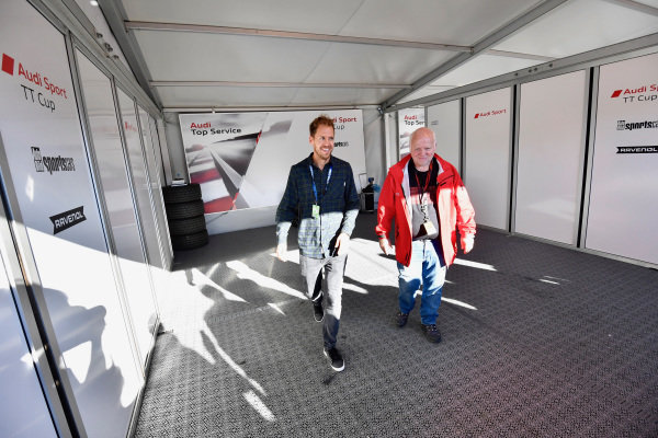 Sebastian Vettel (GER) with his Father Norbert Vettel (GER) at Audi Sport TT Cup, DTM Championship, Hockenheim, Germany, 14-15 October 2017.