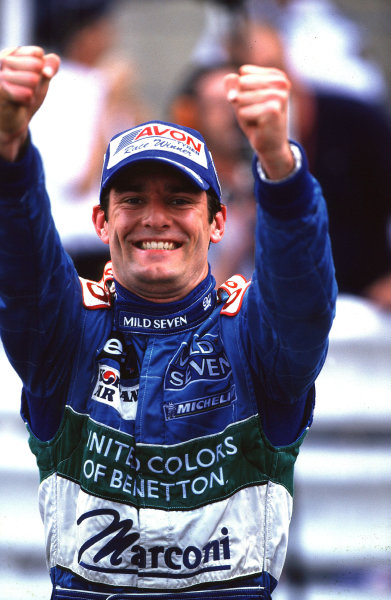 2001 F3000 ChampionshipMonte Carlo, Monaco. 26th May 2001Race winner Mark Webber, Super Nova Racing - celebrates his second victory of the season.World Copyright: Chlive Rose / LAT Photographicref: 35mm Image A01