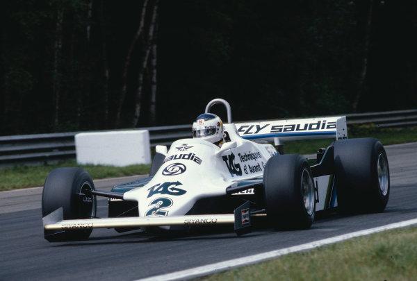 1981 Belgian Grand Prix.Zolder, Belgium.15-17 May 1981.Carlos Reutemann (Williams FW07C Ford) 1st position.Ref-81 BEL 12.World Copyright - LAT Photographic