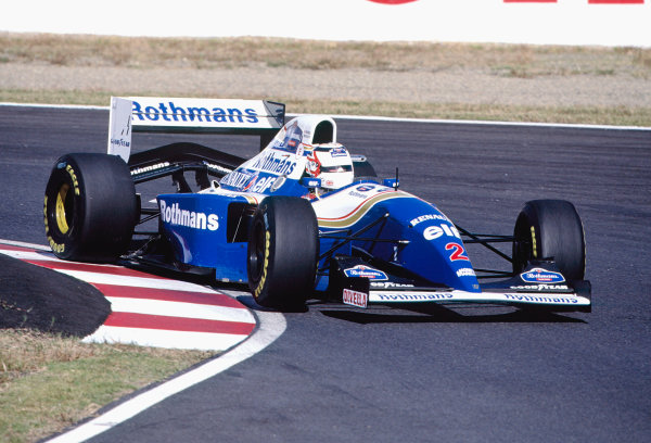 Suzuka, Japan. 4th - 6th November 1994. Nigel Mansell (Williams FW16B Renault) 4th position.Ref-94 JAP 20.World Copyright - LAT Photographic