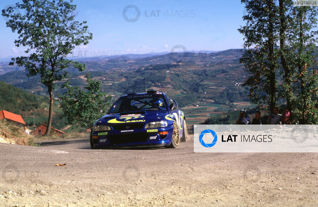 1997 World Rally Championship.San Remo Rally, Italy.Colin McRae/Nicky Grist (Subaru Impreza WRC), 1st position.World - LAT Photographic
