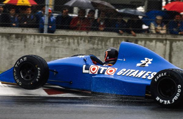 Olivier Grouillard, Ligier JS33 Ford, going for a spin.