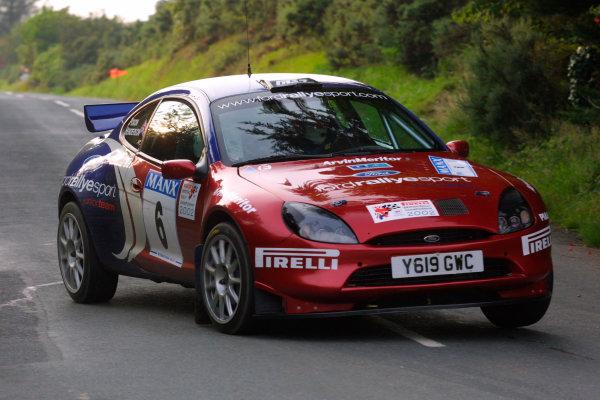 2002 British Rally Championship.Manx International Rally. Douglas, Isle of Man.1-3 August 2002.David Henderson/Scott Poxon (Ford Puma).Ref-02 MIR 24.World Copyright - Malcolm Griffiths/LAT Photographic