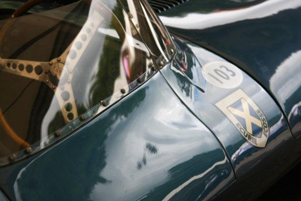 Goodwood, England. 3rd July 2009. Ecurie Ecosse Jaguar D Type detail. World Copyright: Kevin Wood/LAT Photographic Ref: Digital Image IMG_8643a